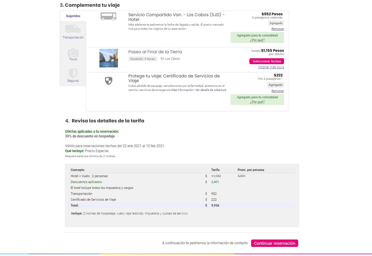 Proceso compra Price Travel